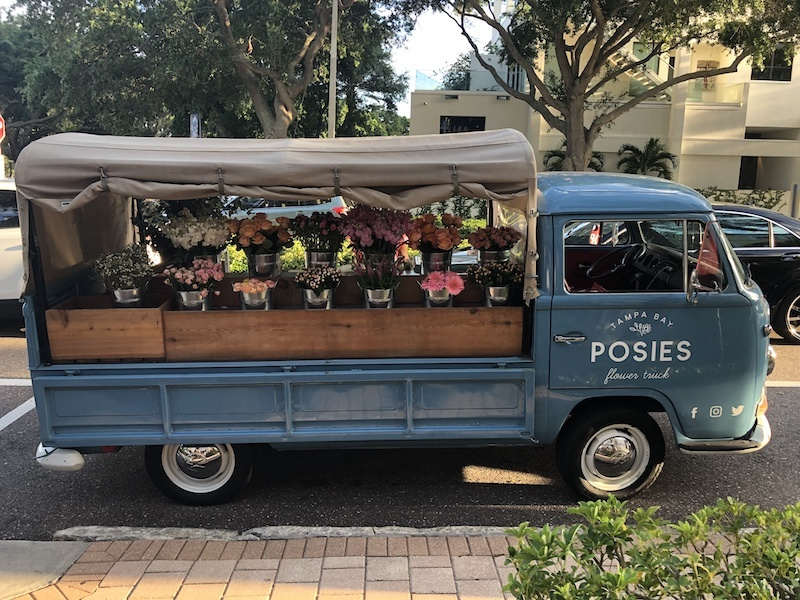 Tampa Bay Posies flower truck at Noisette Rosé Launch at Mermosa Winery & Boutique in Downtown St. Petersburg