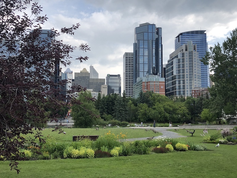 View of Downtown Calgary from Prince's Island Park | Calgary-Banff, Alberta, Canada | The Ultimate Travel Guide