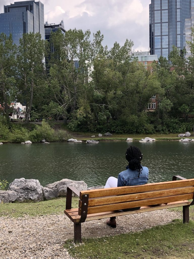 Practicing mindfulness at Prince's Island Park | Calgary-Banff, Alberta, Canada |  The Ultimate Travel Guide