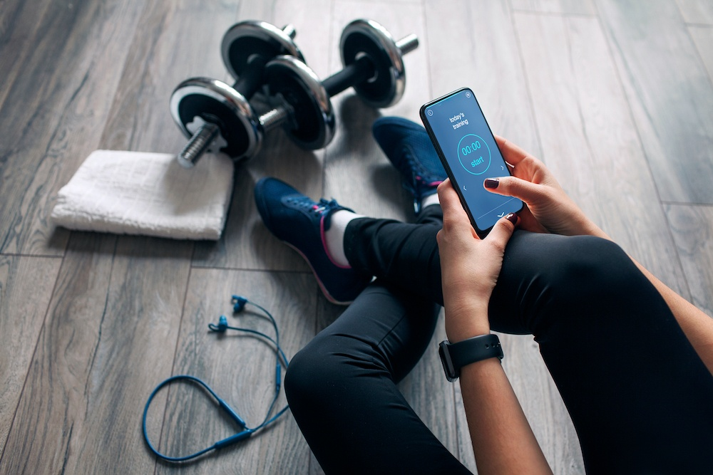 Use fitness apps. | Things you can do to stay fit and active at home | Bonnibelle Chukwuneta | Millennial Lifestyle By Design