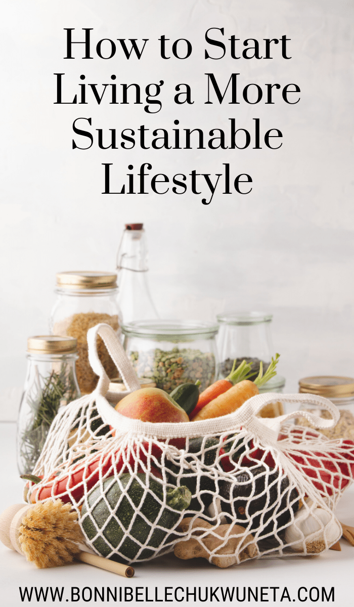 How to start living a more sustainable lifestyle this year. | Bonnibelle Chukwuneta | Millennial Lifestyle By Design