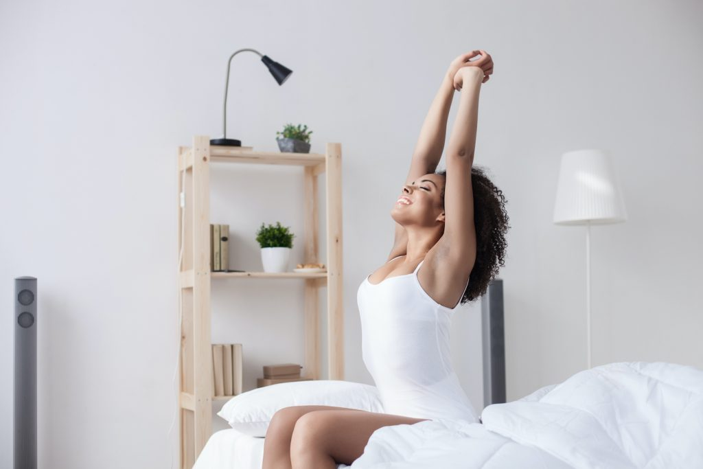Wake up and get up. | How To Design The Perfect Morning Routine To Stay Focused All Day | Bonnibelle Chukwuneta | Millennial Lifestyle By Design